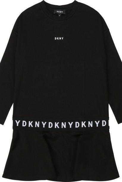DKNY robe évasée matière technique