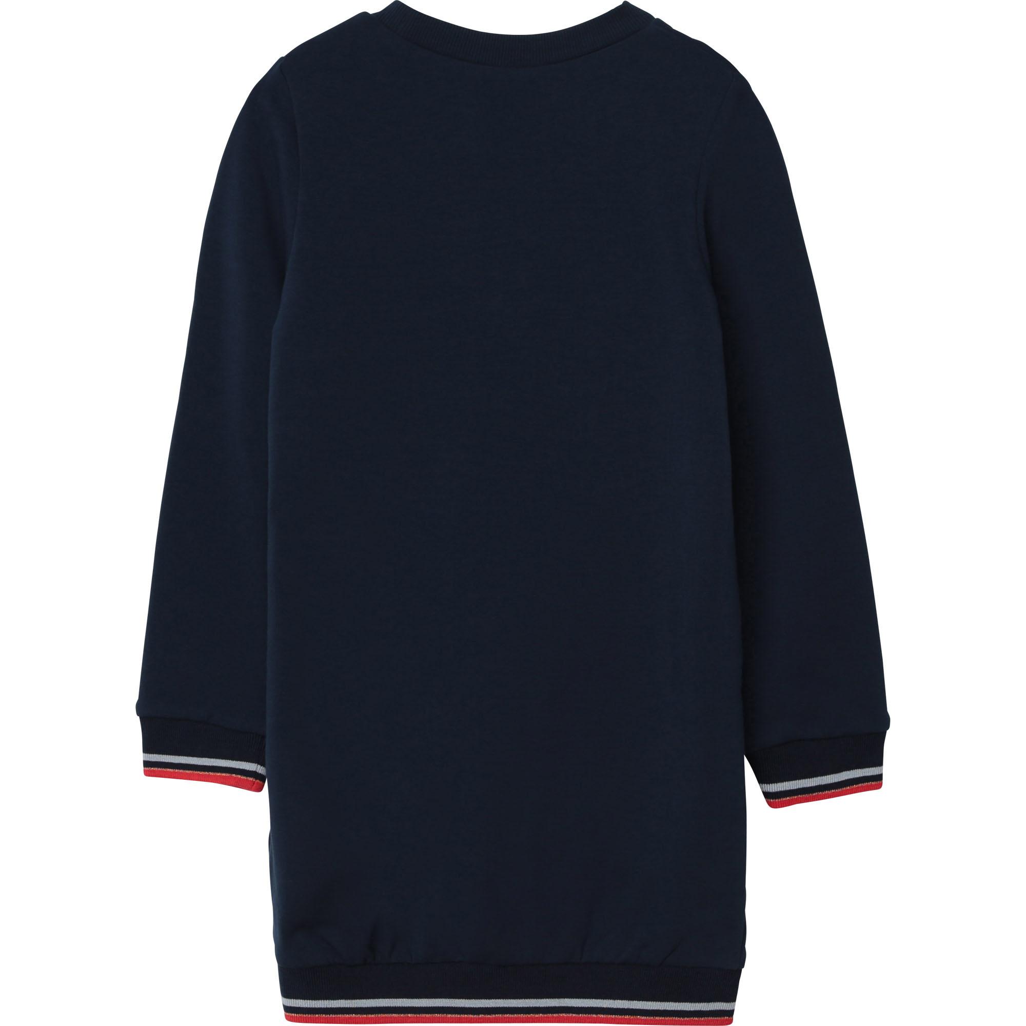 CARREMENT BEAU robe droite en coton molleton-2