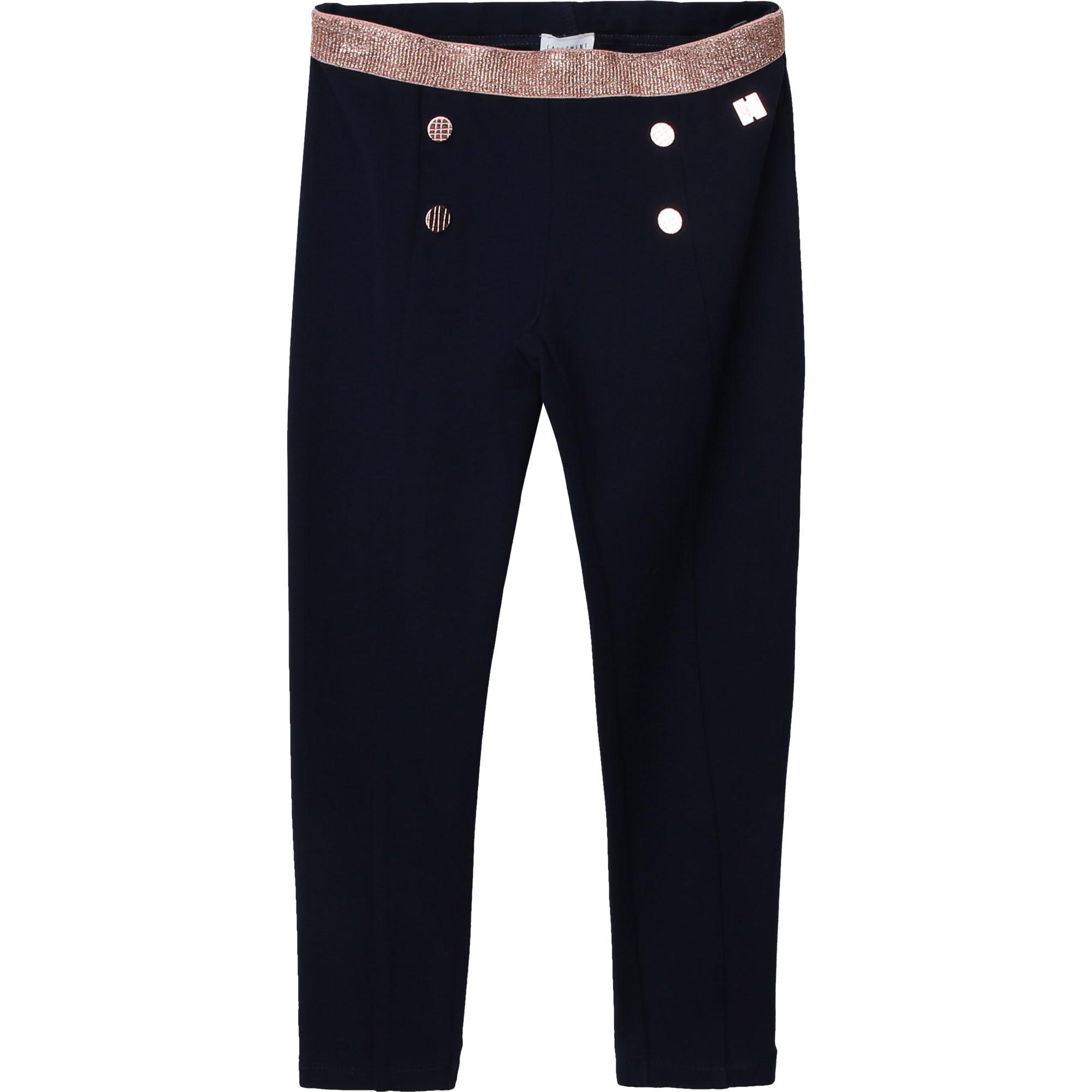 CARREMENT BEAU pantalon en milano à boutons-1