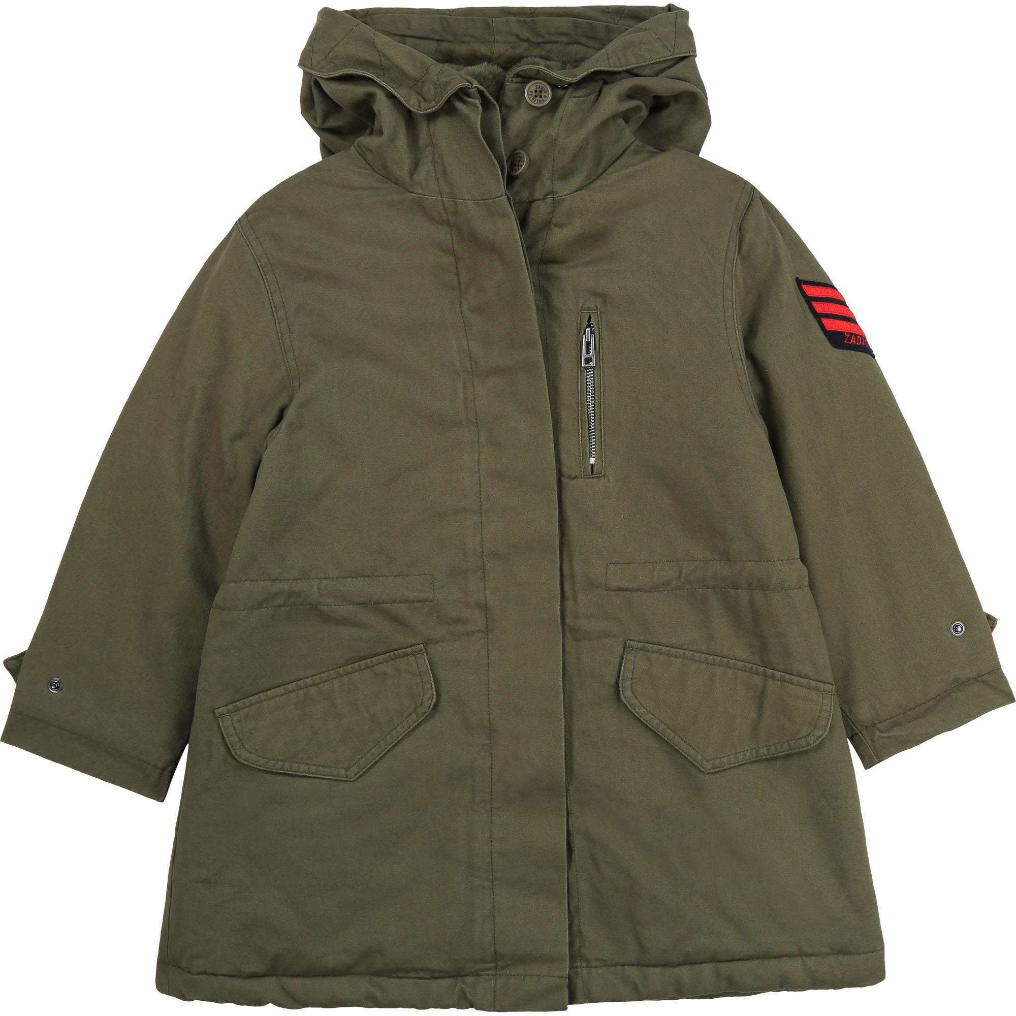ZADIG&VOLTAIRE veste parka à capuche en coton-1