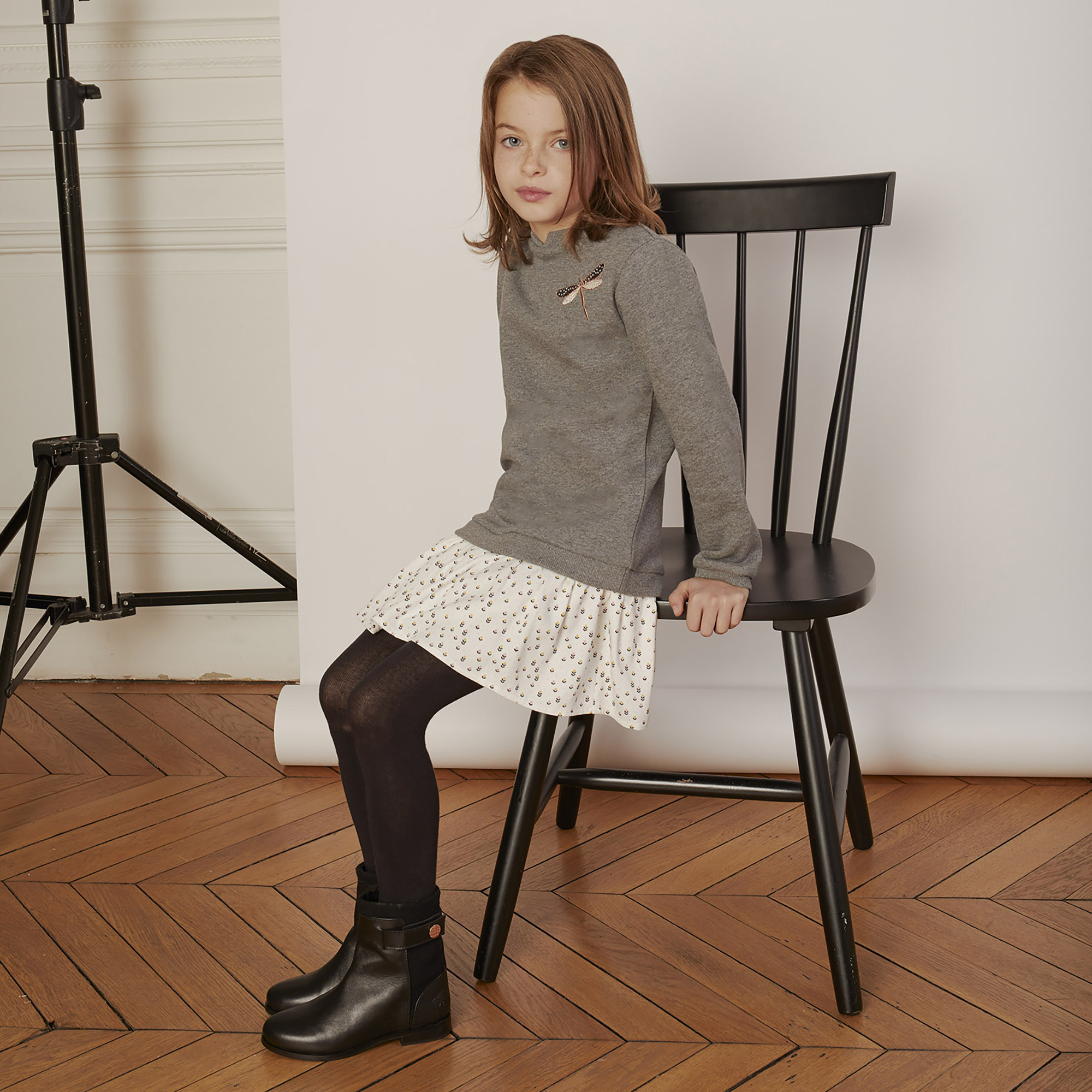 CARREMENT BEAU robe bimatière avec motifs-3