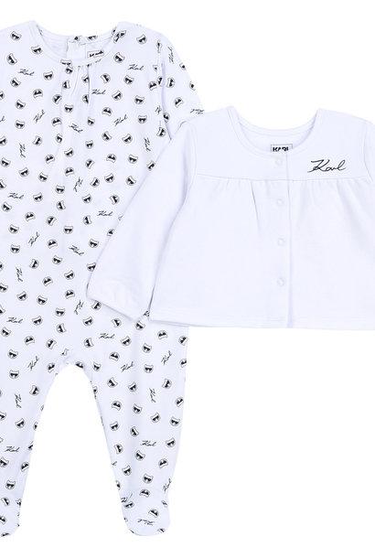 KARL LAGERFELD KIDS pyjama cardigan jersey coton