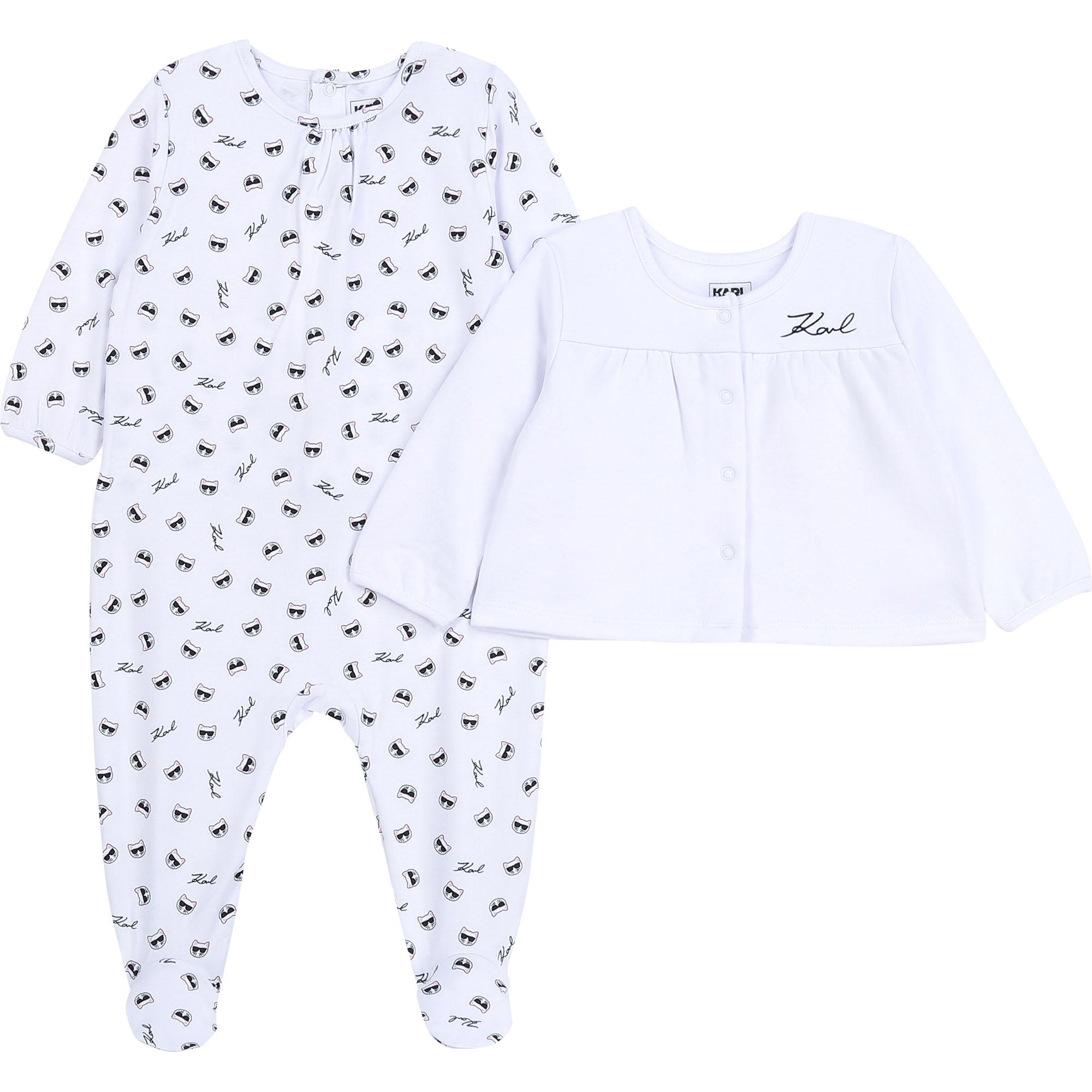 KARL LAGERFELD KIDS pyjama cardigan jersey coton-1