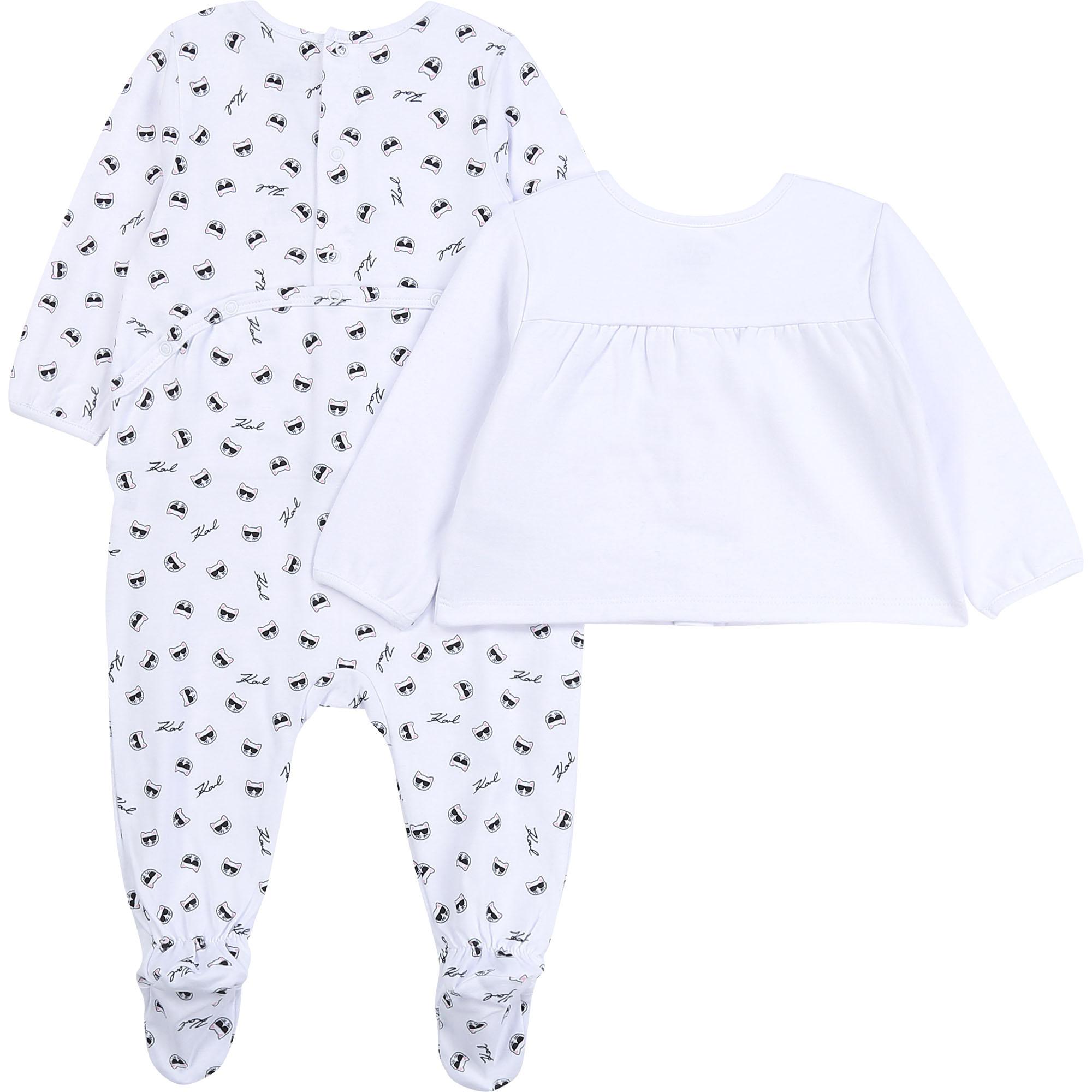 KARL LAGERFELD KIDS pyjama cardigan jersey coton-2