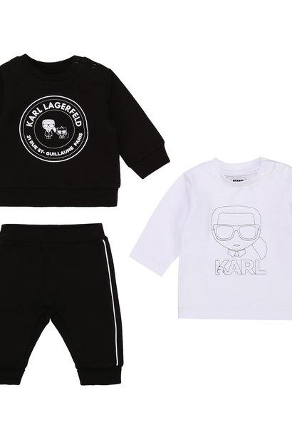 KARL LAGERFELD KIDS jogging 3 pièces jersey coton