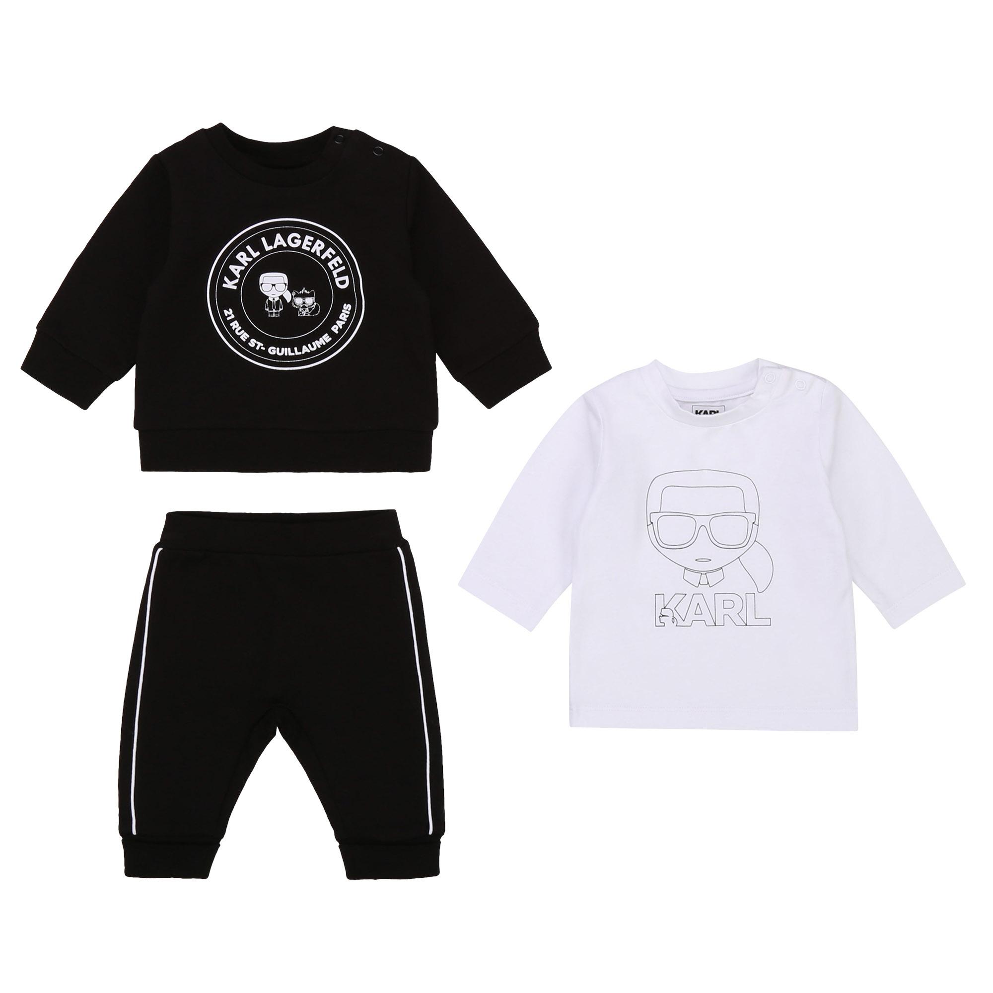 KARL LAGERFELD KIDS jogging 3 pièces jersey coton-1