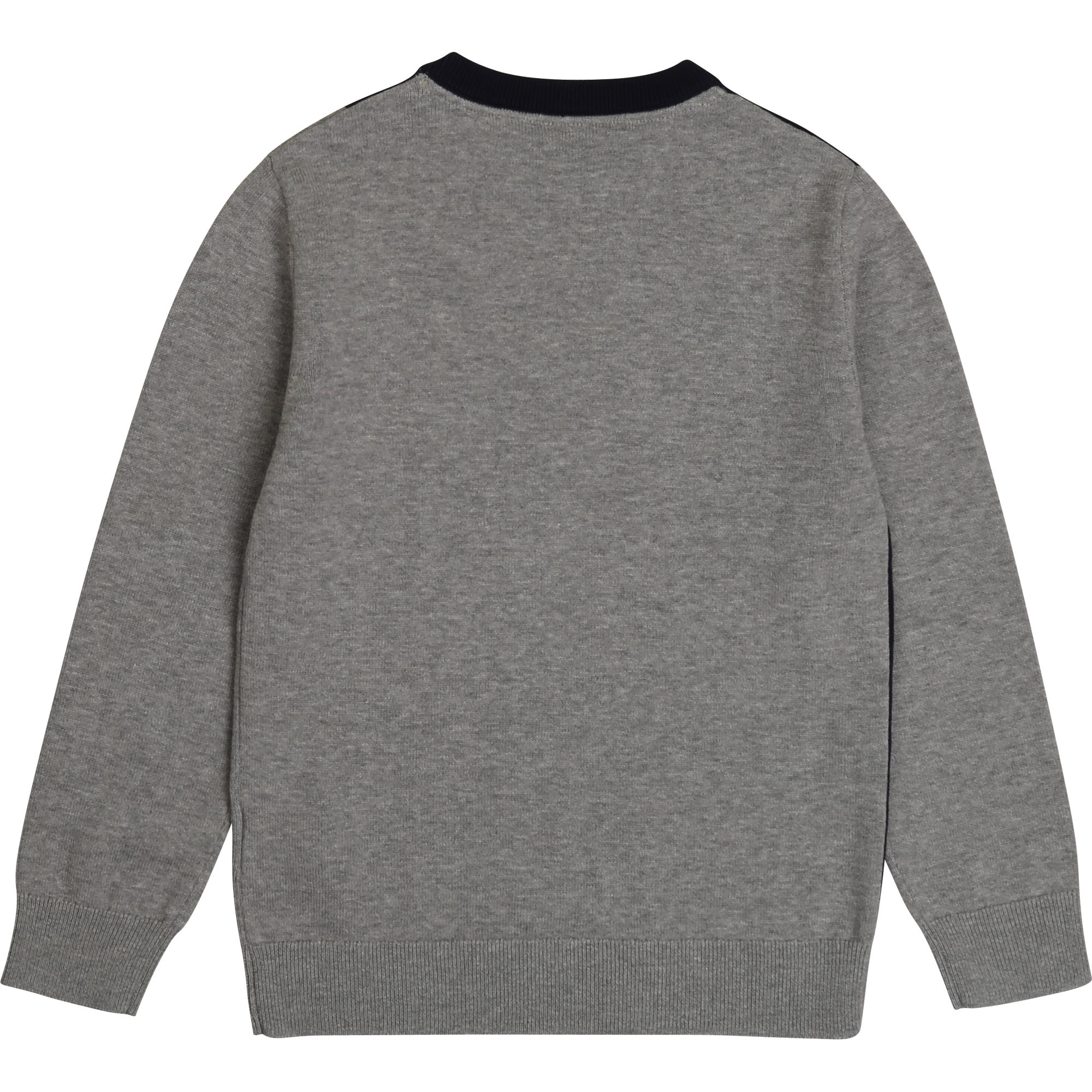 BOSS pull bicolore en coton peigné-2