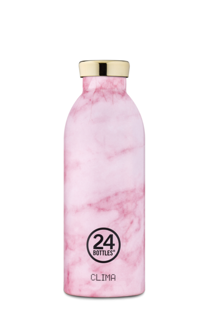 24 BOTTLES gourde clima marble pink 500ml