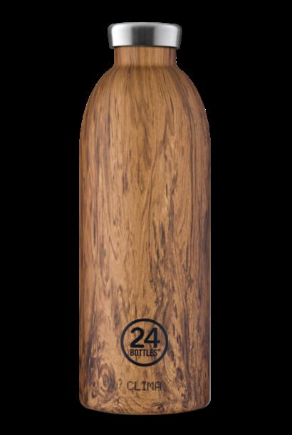 24 BOTTLES gourde clima bois de séquoia 850ml