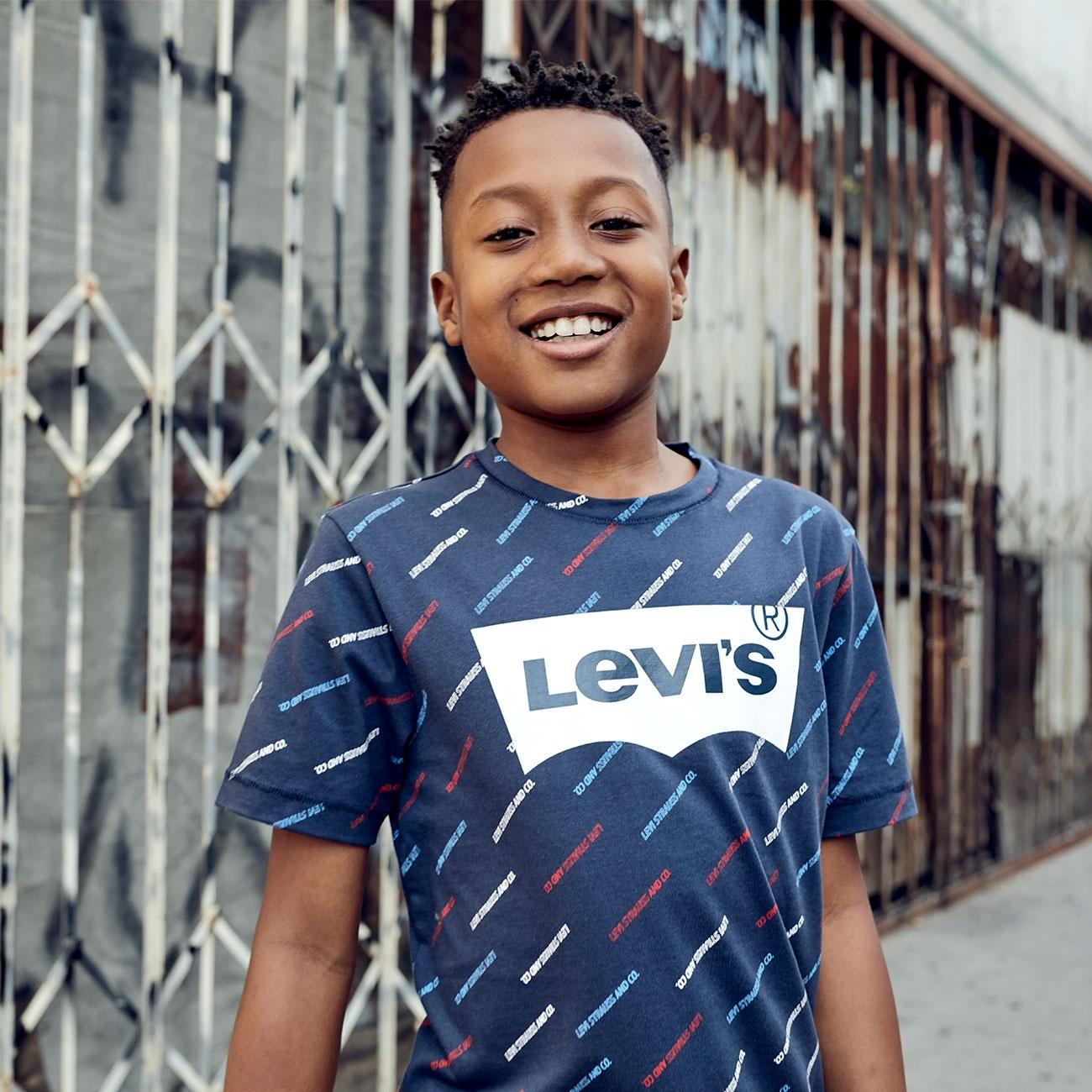 LEVIS t-shirt graphic dress blue-2