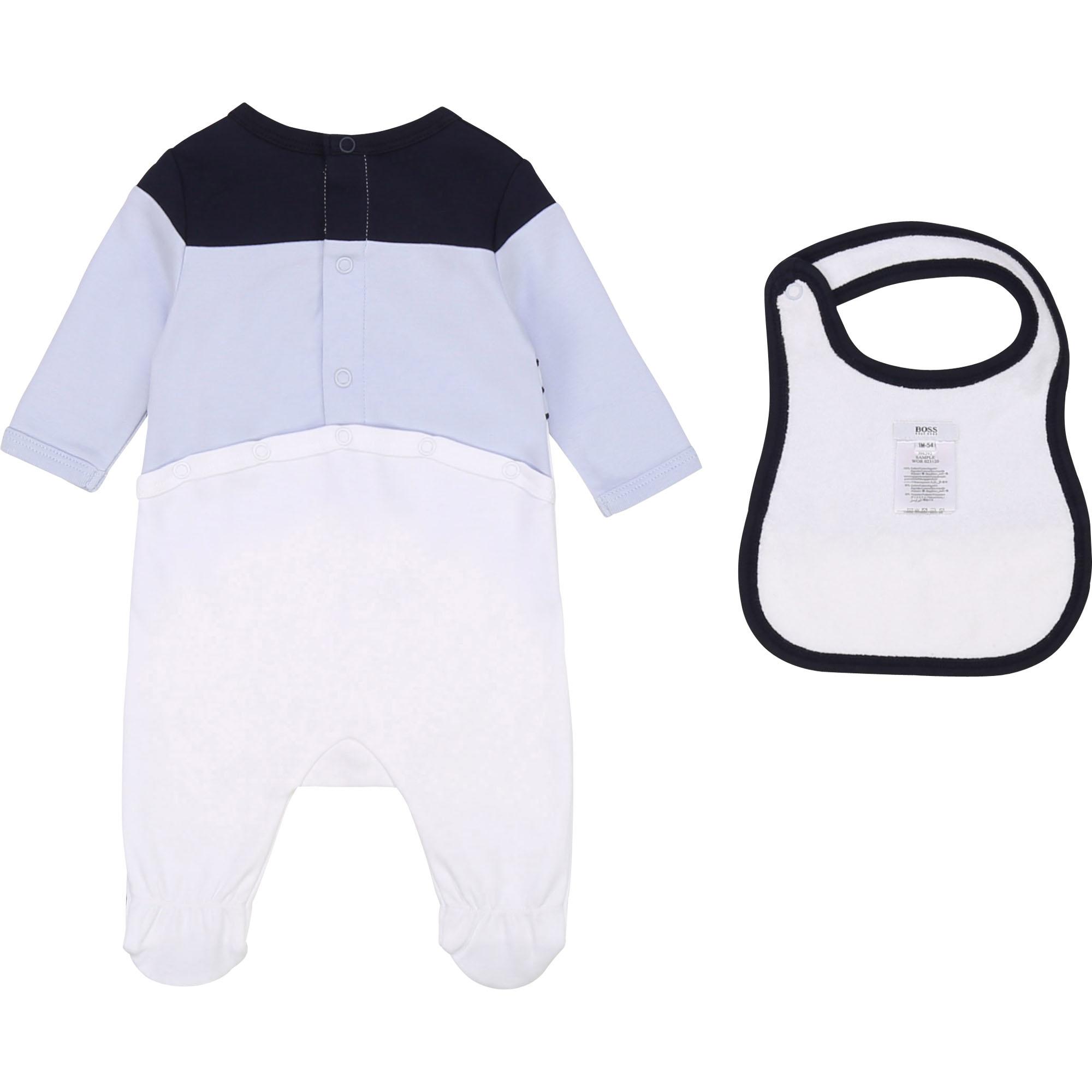 BOSS ensemble pyjama bavoir coton-2