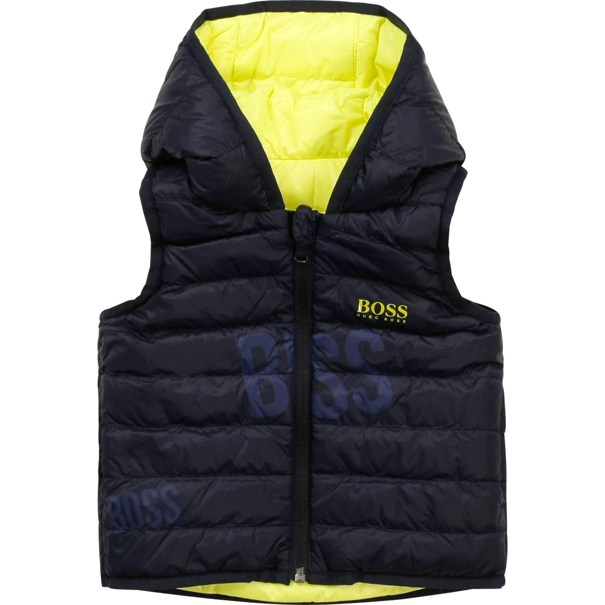 BOSS veste doudoune réversible à capuche-3