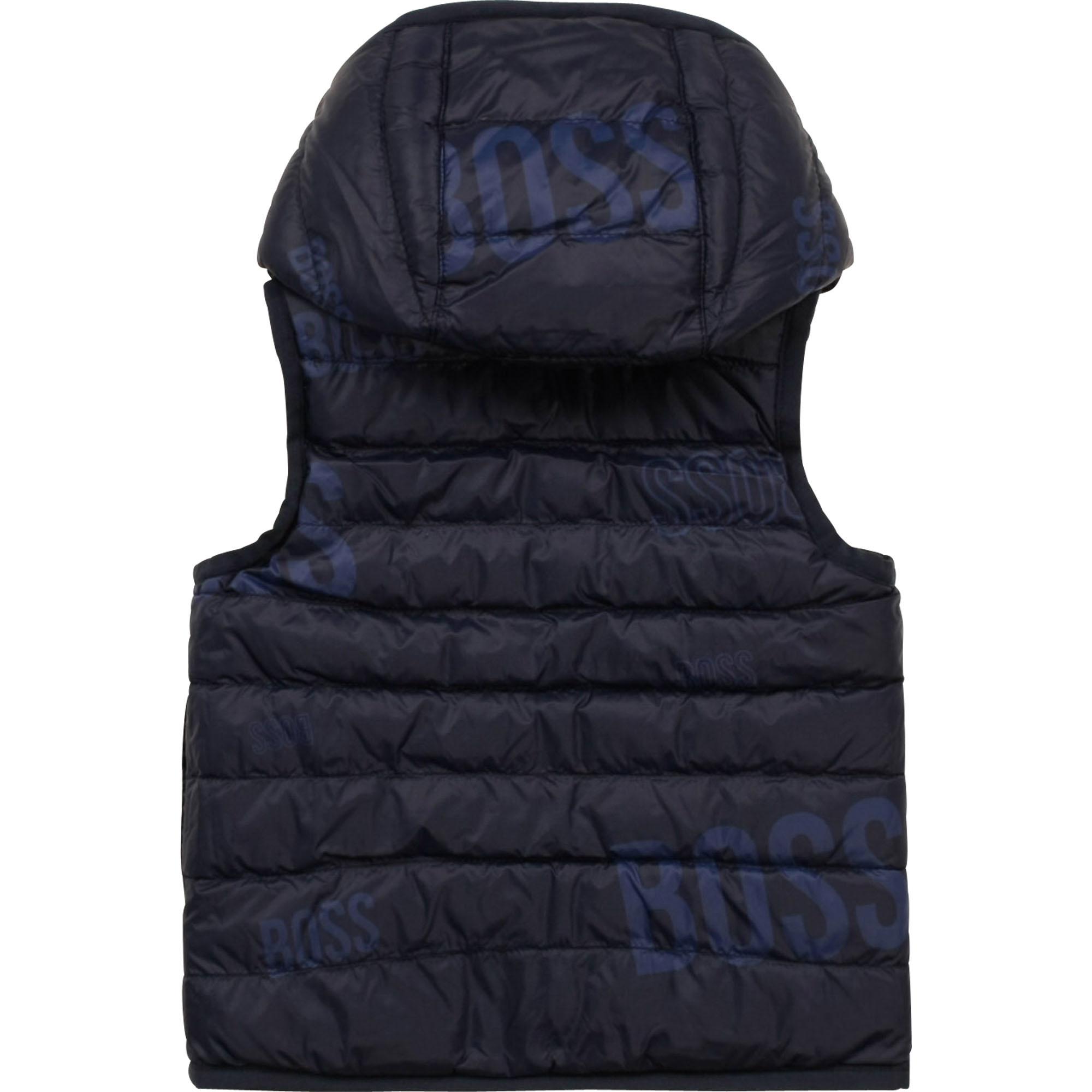 BOSS veste doudoune réversible à capuche-4
