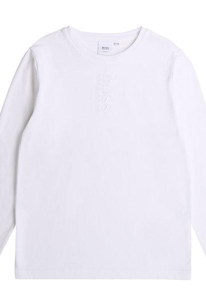 BOSS t-shirt en coton logo brodé