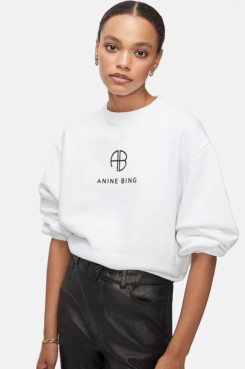 ANINE BING sweat monogram-2