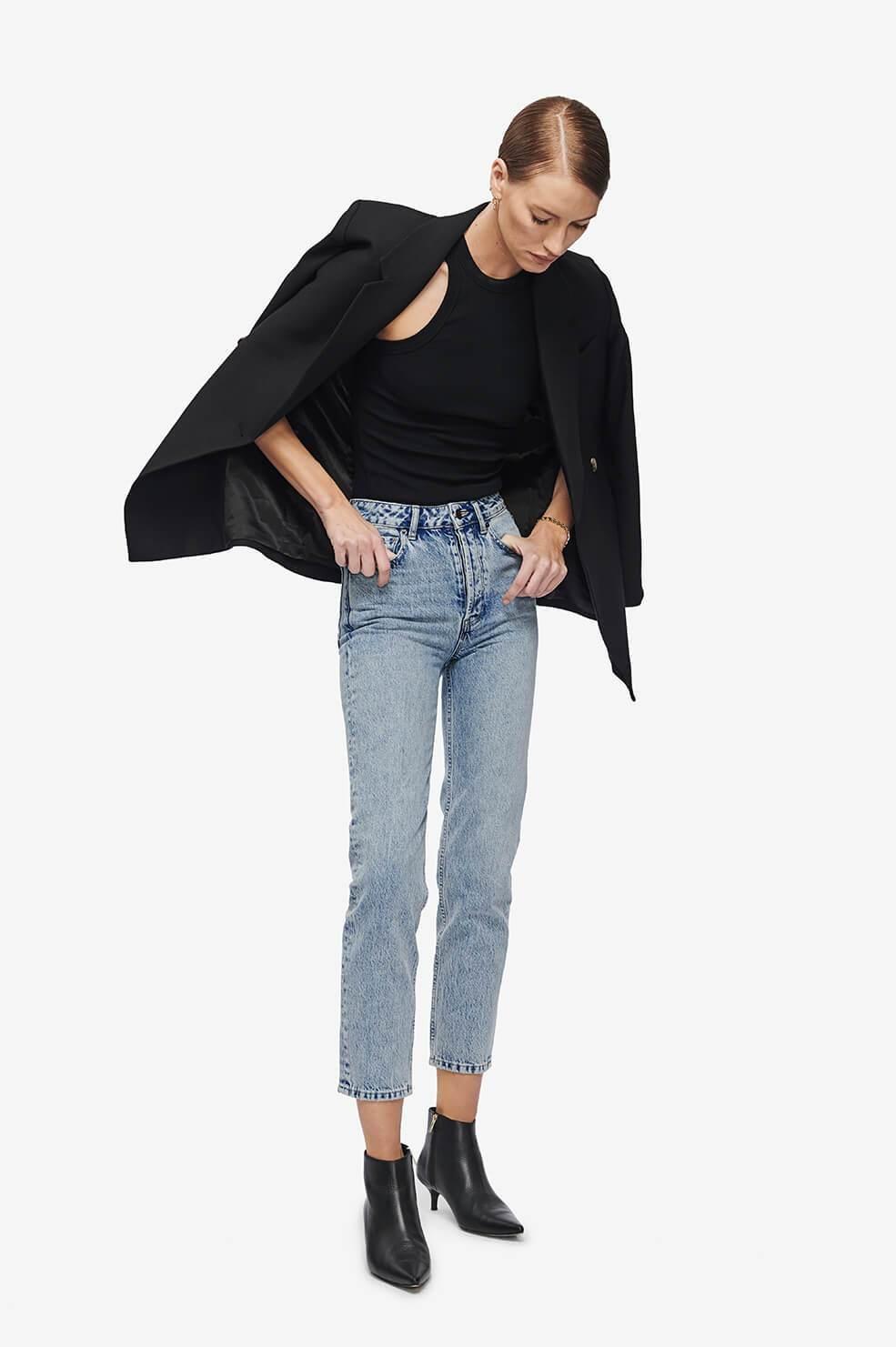ANINE BING blouse eva noire-4