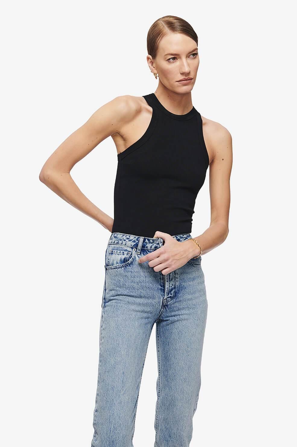 ANINE BING blouse eva noire-6