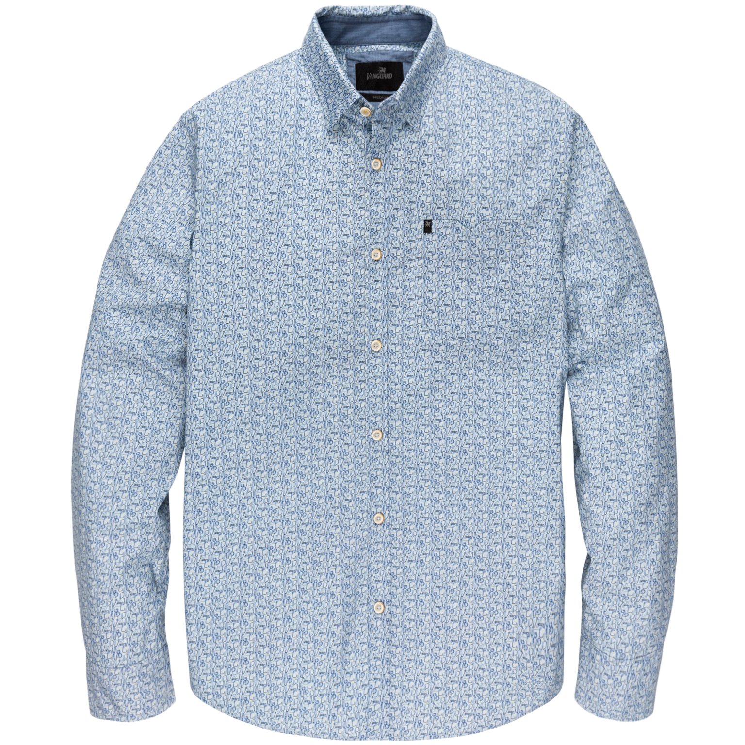 VANGUARD chemise long sleeve shirt on poplin stretch-1