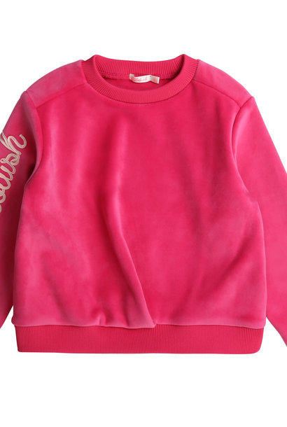 BILLIEBLUSH sweat en molleton velours
