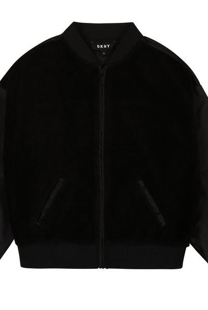 DKNY gilet zippé bimatière