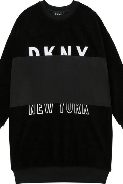 DKNY robe en velours et satin
