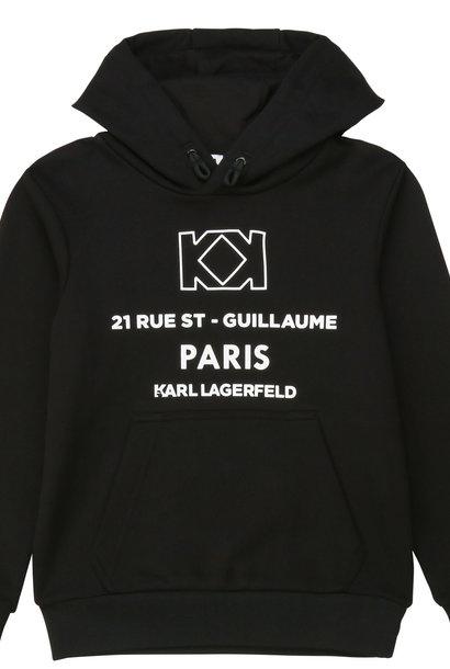 KARL LAGERFELD sweat à capuche en coton