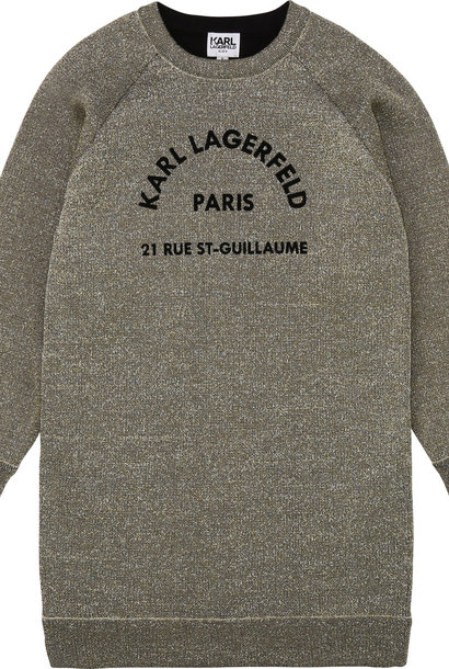 KARL LAGERFELD robe métallisée esprit sweat