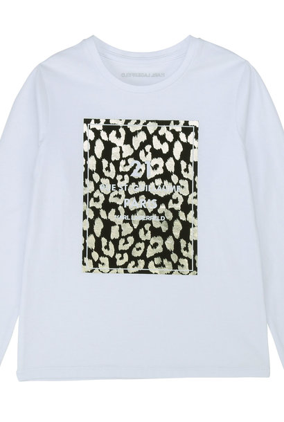KARL LAGERFELD t-shirt jersey manches longues