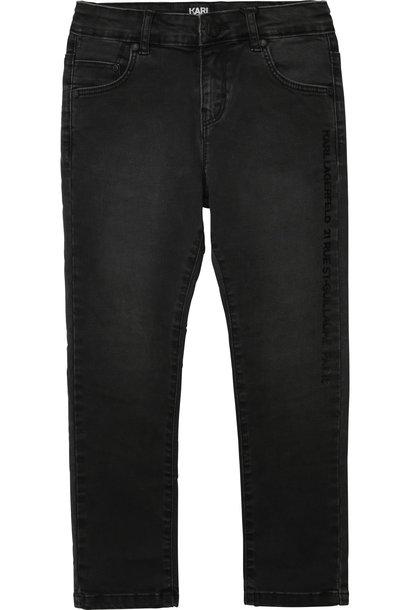 KARL LAGERFELD jeans uni en coton extensible