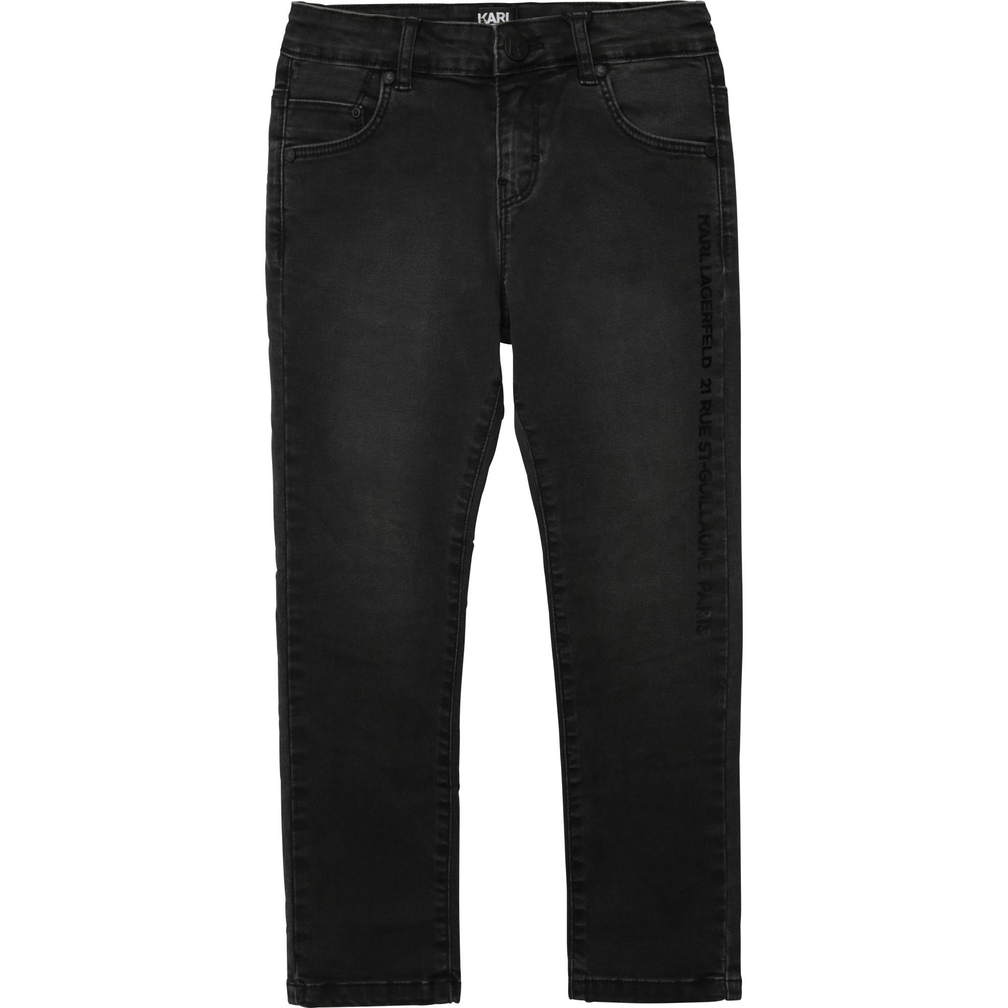 KARL LAGERFELD jeans uni en coton extensible-1