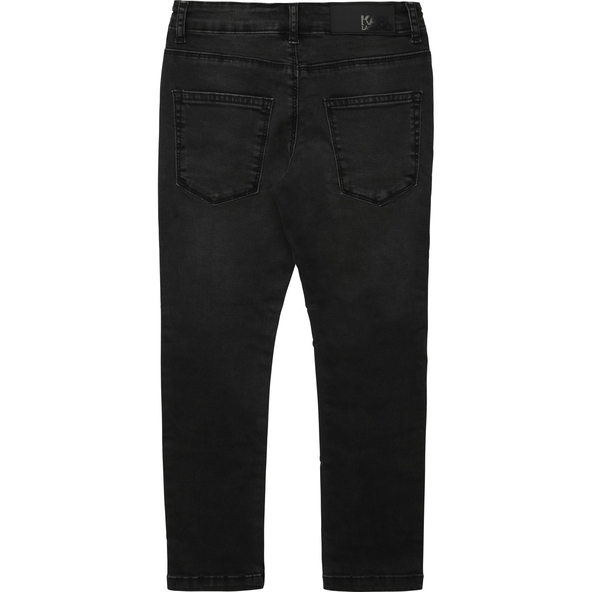KARL LAGERFELD jeans uni en coton extensible-2