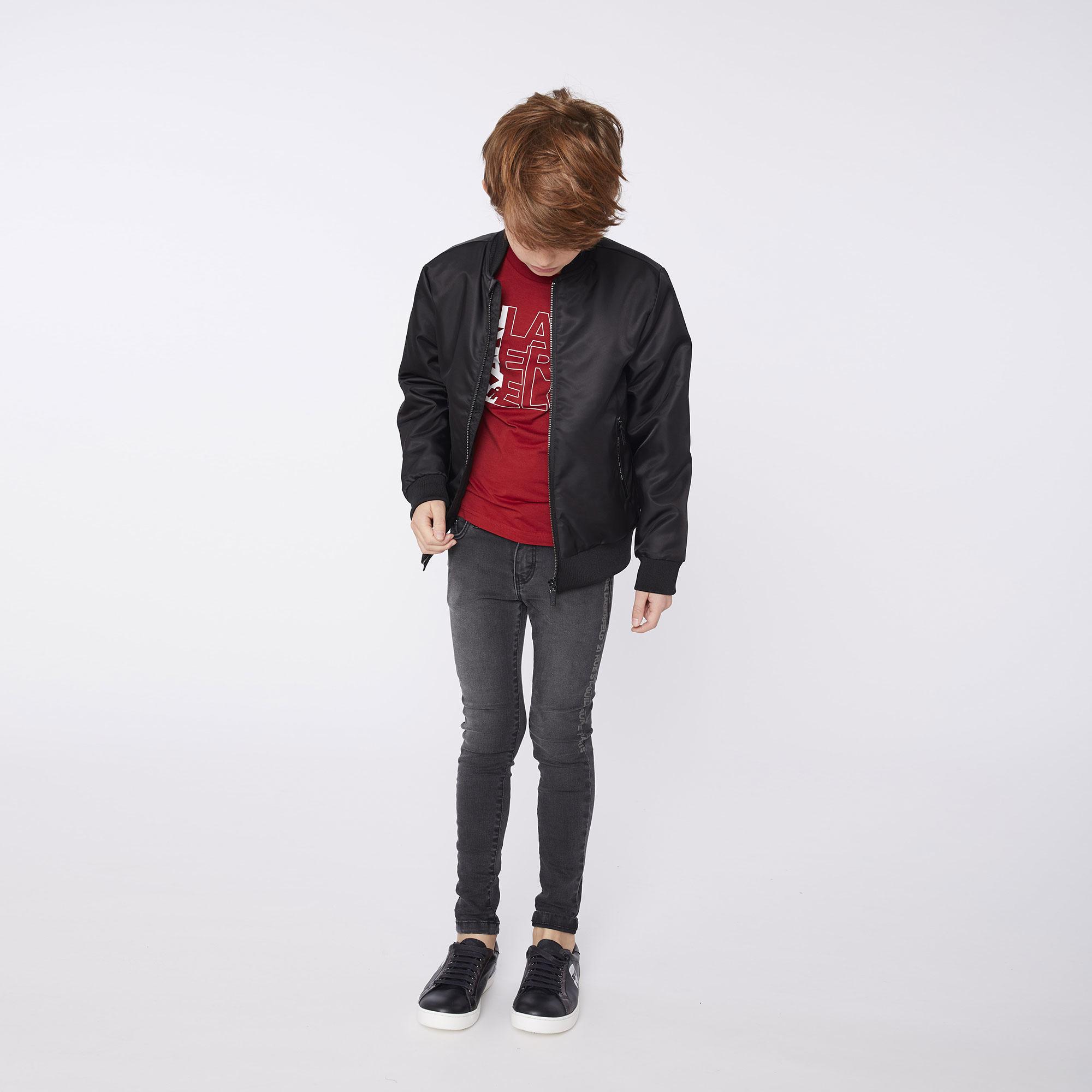 KARL LAGERFELD jeans uni en coton extensible-3