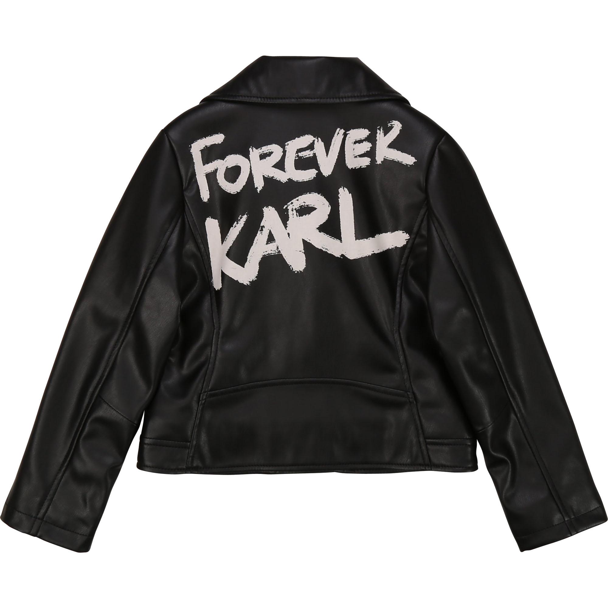 KARL LAGERFELD veste en similicuir-2