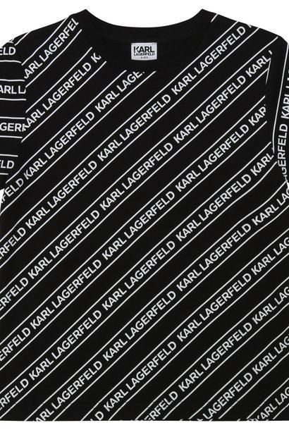 KARL LAGERFELD t-shirt jersey coton imprimé