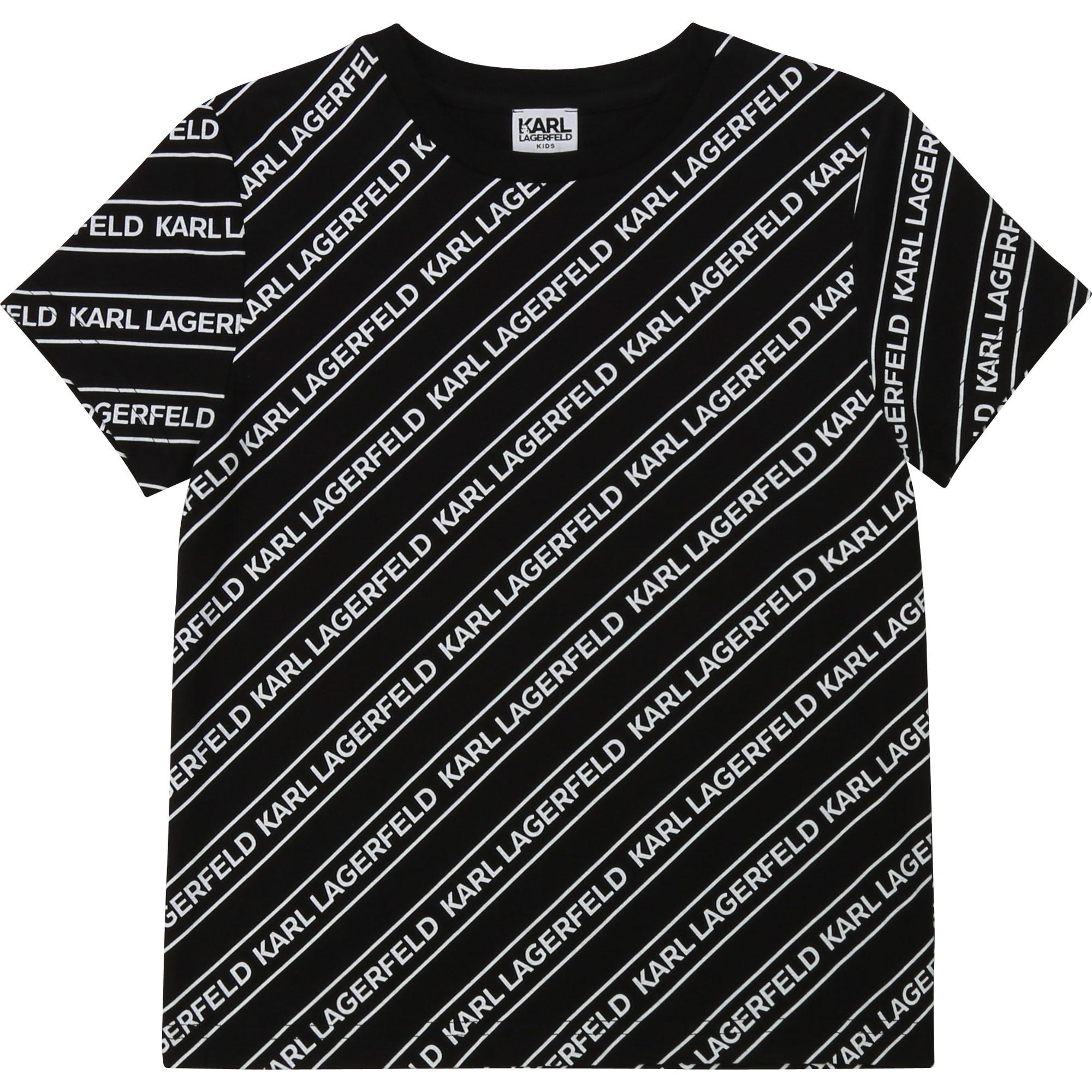 KARL LAGERFELD t-shirt jersey coton imprimé-1
