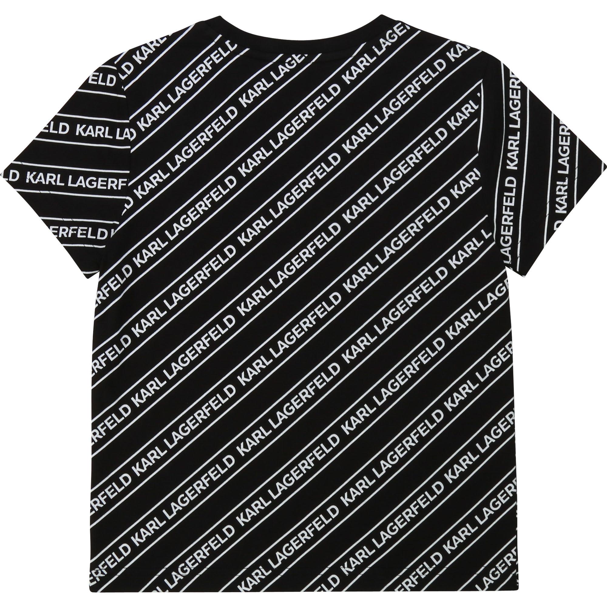 KARL LAGERFELD t-shirt jersey coton imprimé-2