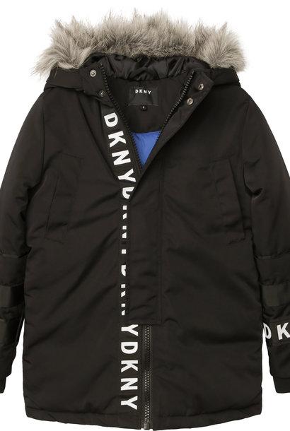 DKNY manteaux déperlante à capuche