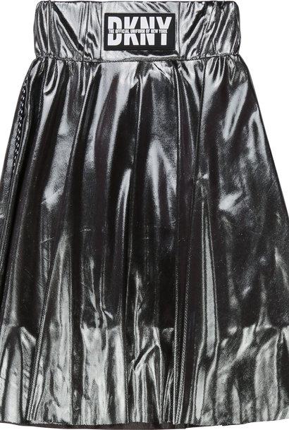 DKNY jupe de cérémonie argentée