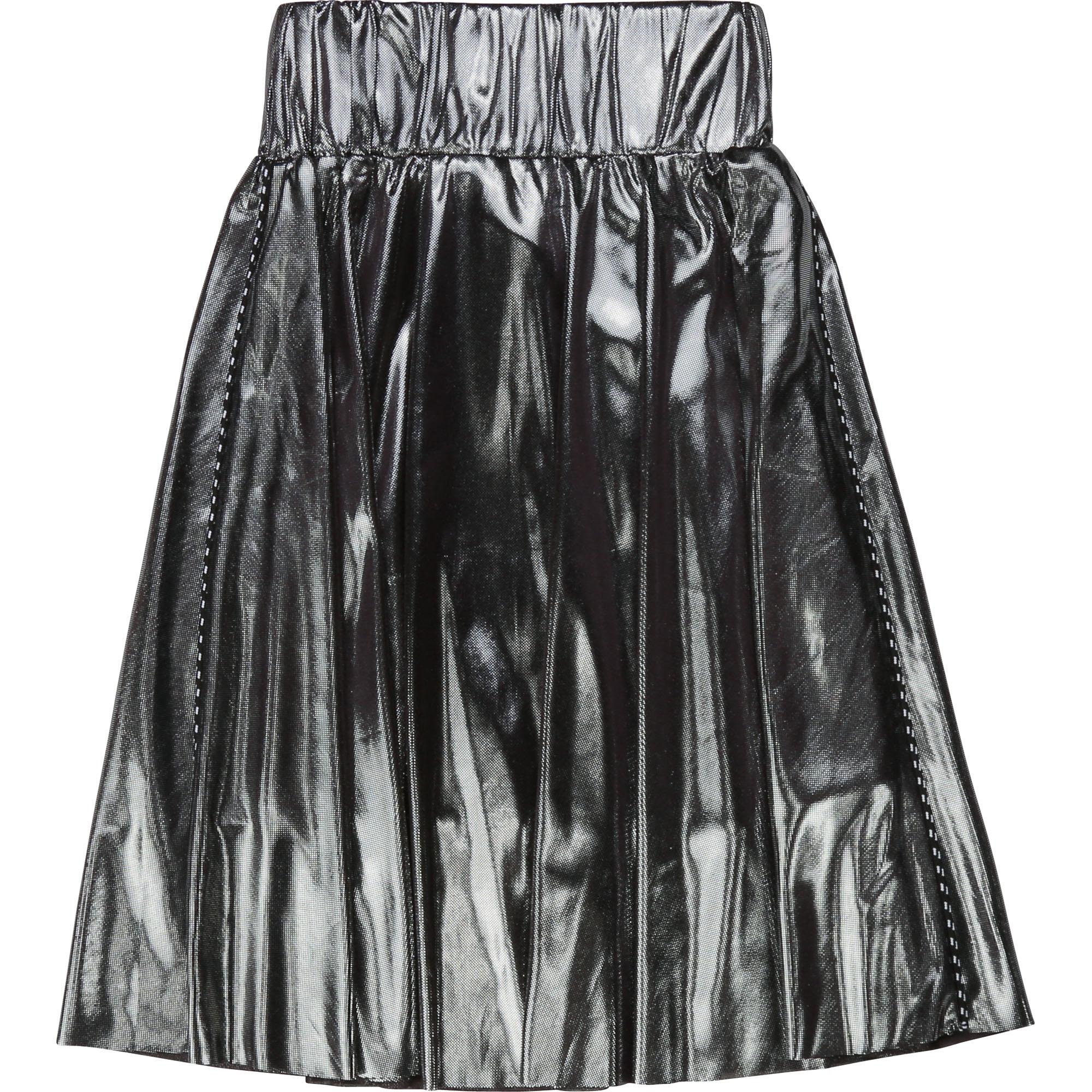 DKNY jupe de cérémonie argentée-2