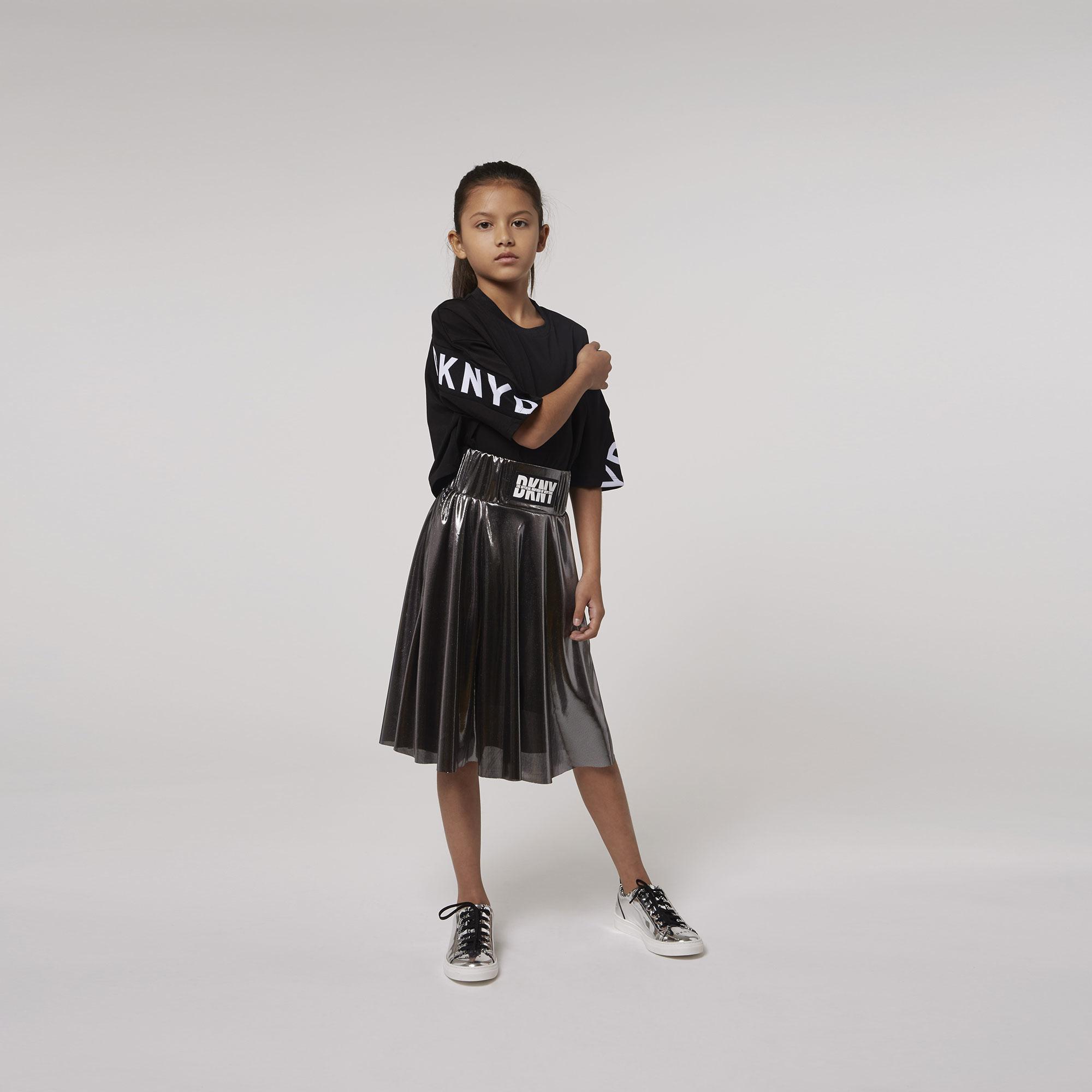 DKNY jupe de cérémonie argentée-3