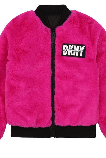 DKNY veste réversible bimatière