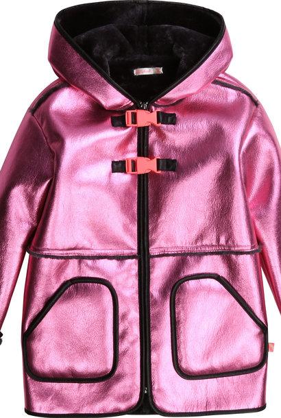 BILLIEBLUSH manteau à capuche fausse peau