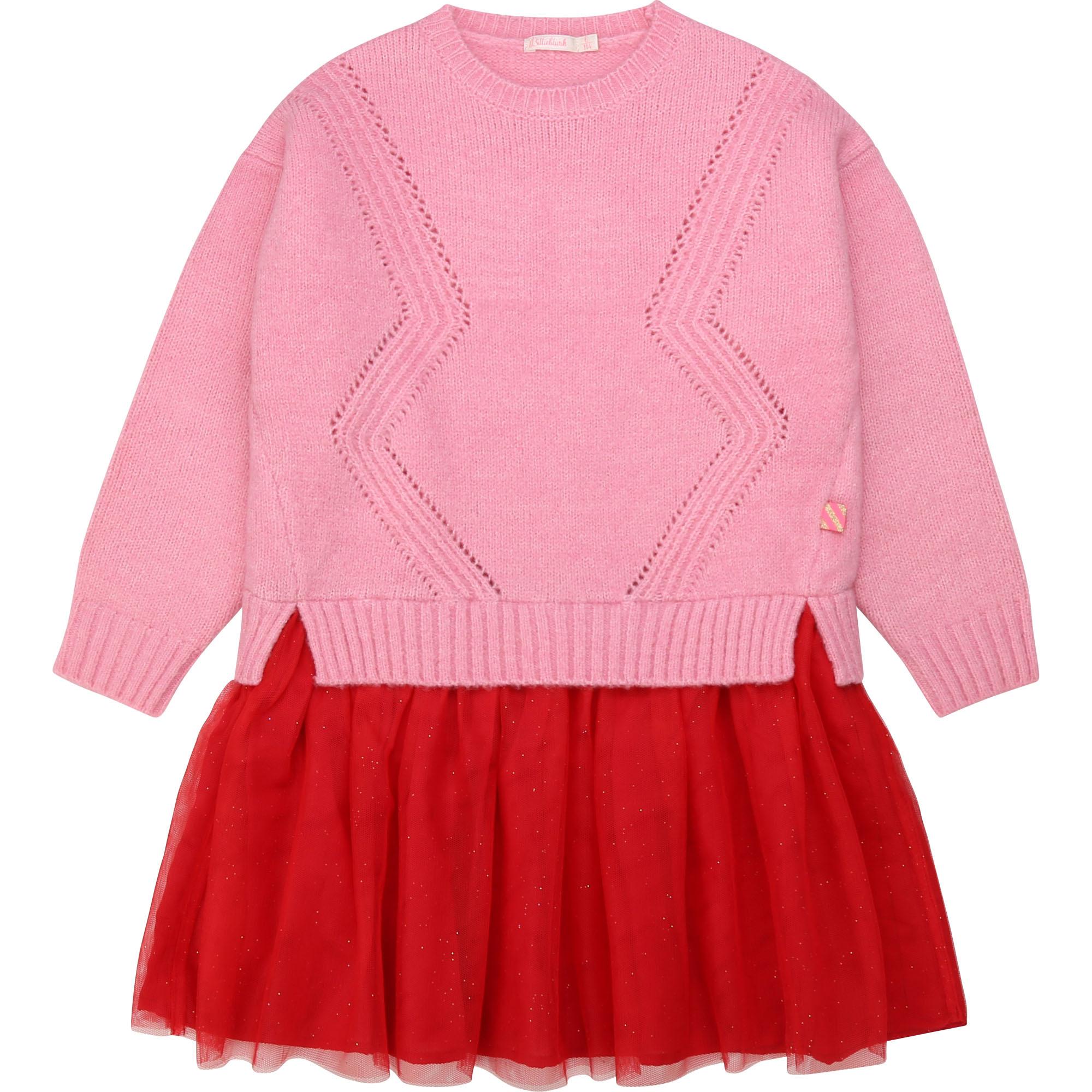 BILLIEBLUSH robe en tulle et tricot-1