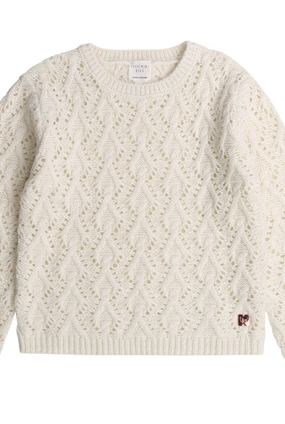 CARREMENT BEAU pull tricot point fantaisie