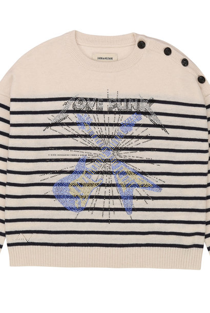 ZADIG & VOLTAIRE pull marin en tricot