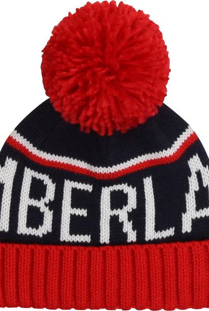 TIMBERLAND bonnet multicolore à pompons