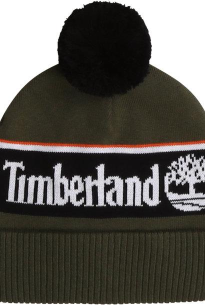 TIMBERLAND bonnet à pompons en coton