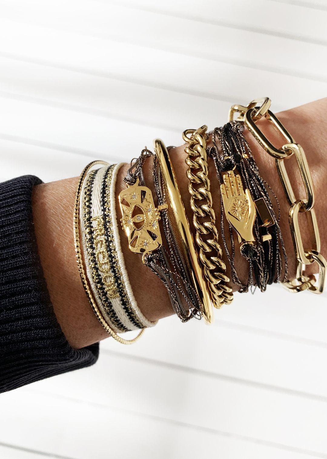MYA BAY bracelet multi cordon shinny eye-2
