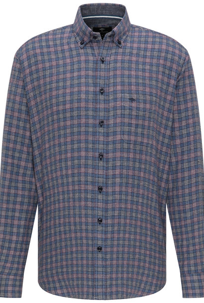 FYNCH HATTON chemise blue check