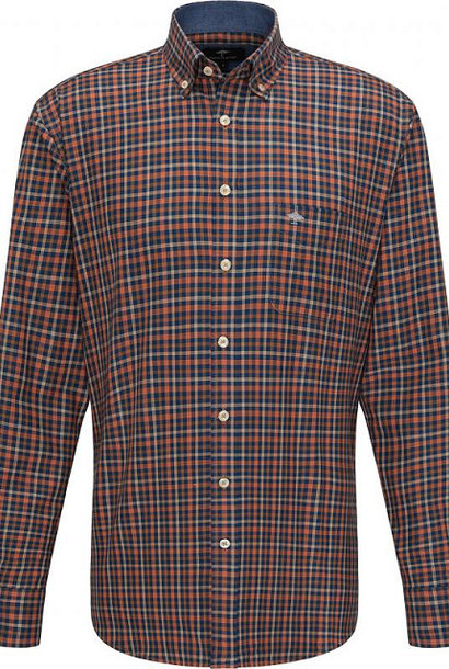 FYNCH HATTON chemise terracotta check